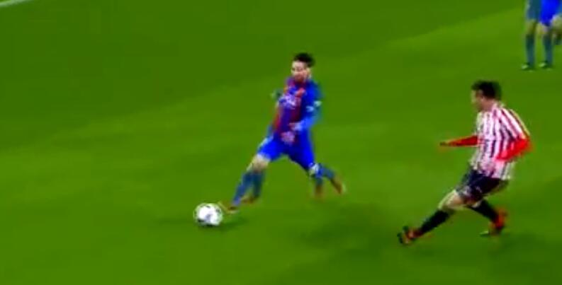 精彩的足球比赛视频, 谁也不能阻止10号球员梅西进球